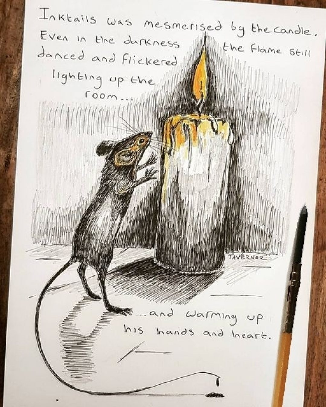 Flickering Flame Paul Tavernor Art Illustrations