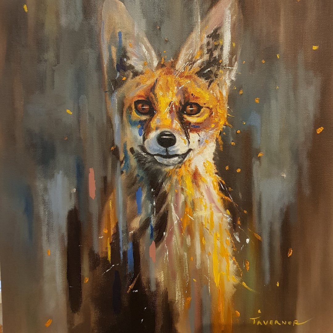 Original Oil SOLD Firey Fox