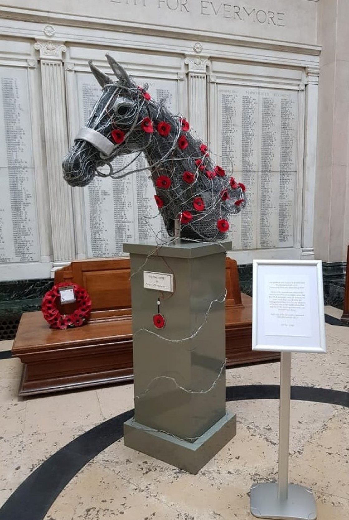 To the Wire Situated in the Hall of Memory Stockport War Memorial Art Gallery