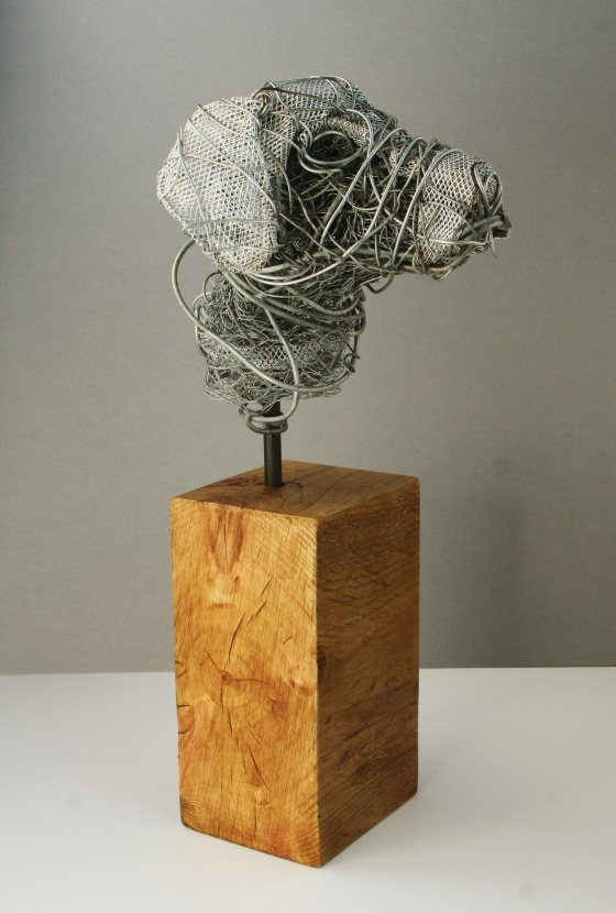 Wire Dog Bust Paul Tavernor
