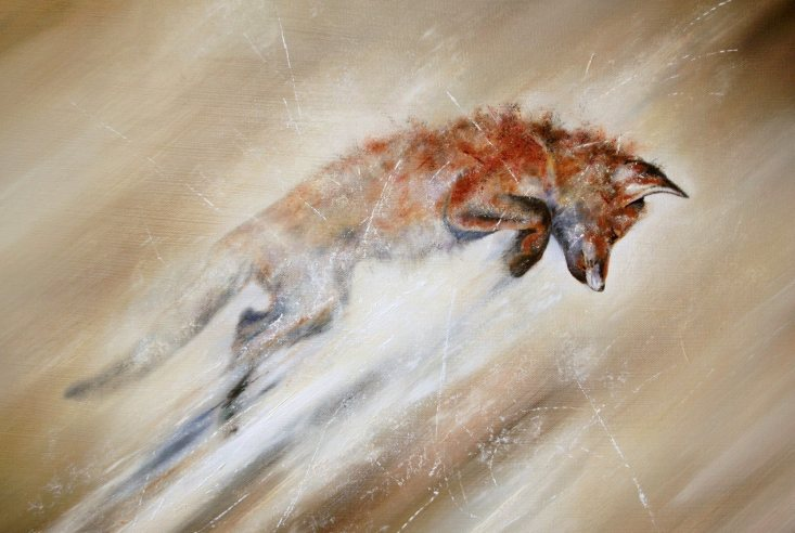 Leaping Fox by Paul Tavernor
